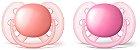 Chupeta Ortodôntica Ultra Soft (Escudo Flexível) 6-18 Meses com 2 Unidades Menina - Philips Avent - Imagem 1