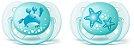 Chupeta Ortodôntica Ultra Soft (Escudo Flexível) 0-6 Meses com 2 Unidades Menino Decorada - Philips Avent - Imagem 1