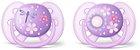 Chupeta Ortodôntica Ultra Soft (Escudo Flexível) 6-18 Meses com 2 Unidades Menina Decorada - Philips Avent - Imagem 1