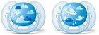 Chupeta Ortodôntica Ultra Soft (Escudo Flexível) 6-18 Meses com 2 Unidades Menino Decorada - Philips Avent - Imagem 1