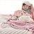 Manta de Microfibra Estampada Rosa Dupla Face - Piccolo Bambino - Imagem 3