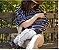 Capa Multifuncional para Mamãe e Bebê Listrada Branco e Cinza - Penka Cover - Imagem 4