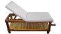 Maca para Massagem Beauty Multiforma, com suporte para o rosto e papeleira em madeira Teca. - Imagem 1