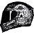 Capacete Axxis Eagle Skull Preto Fosco - Imagem 1
