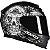 Capacete Axxis Eagle Skull Preto Fosco - Imagem 2