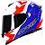 Capacete Axxis Eagle Diagon Branco/Azul/Vermelho - Imagem 1
