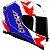 Capacete Axxis Eagle Diagon Branco/Azul/Vermelho - Imagem 2
