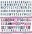 Papel Alfabeto (Coleção Amor e Ponto) - Pacote com 15 Unidades - Imagem 1