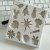 Molde de silicone Tema Natalino (Modelo 2) árvore de natal, anjo, sino, boneco de neve, estrela, papai noel, floco de neve, rena  - Imagem 1