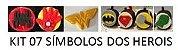 Cortador 3D Super Heróis Símbolo 5 cm (Batman, Super Homem, Mulher Maravilha, Homem Aranha, Mão do Hulk, Mão do Homem - Imagem 1