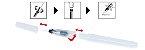 Caneta / Pincel Aquarela Para Escritas e Pinturas Recarregável - Imagem 2