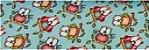 Tecido coruja Fundo Tiffany Digital 100% algodão - Imagem 1