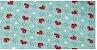 Tecido coruja coração Fundo Tiffany Digital 100% algodão - Imagem 1