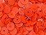 Botão Ritas, Tamanho 12mm, Pacote com 50 unidades, Cor Laranja - Imagem 1