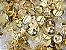 Botão Ritas, Tamanho 12mm, Pacote com 50 unidades, Cor Dourado - Imagem 1