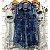 Colete Jeans Rajado - Imagem 1