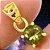Moldavita Genuína Lapidada em Pingente de Prata 925 Banhada a Ouro - Imagem 4