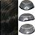 Prótese Capilar Parcial Híbrida Australia (12,5 x 17,5 cm) 0,06mm #1b Castanho Escuro + Curso de Auto Manutenção Grátis - Imagem 2
