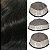 Prótese Capilar Fine Mono  (17,5 X 22,5 cm) #1B Castanho Escuro + Curso de Auto Manutenção - Imagem 2