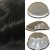 Prótese Capilar Parcial Q6 (20 X 25 cm) #1B Castanho Escuro + Curso de Auto Manutenção Grátis - Imagem 2