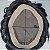 Prótese Capilar Fine Mono (15 x 20 cm) #1B Castanho Escuro + Curso de Auto Manutenção Grátis - Imagem 6