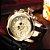 Relógio Masculino Big Dial Skull - Dourado com Preto - Aço Inox - Imagem 2