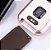 Relógio Eletrônico Smartwatch CF P80 - Gold + Pulseira Extra Silicone Marrom - Android e IOS - Imagem 10