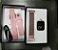 Relógio Eletrônico Smartwatch CF P80 - Rosé + Pulseira Extra Silicone Rosa - Android e IOS - Imagem 6