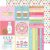 Papel de scrapbook 30x30 - Cream & Sugar - Cake Sprinkles - Doodlebug - Imagem 1