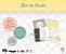 Kit de cards Amor que transborda - Coleção Meu Coração é Seu - Juju Scrapbook - Imagem 1