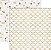 Papel Scrapbook - 30x30 Tinsel and Company com foil dourado - Quatrefoil - Teresa Collins - Imagem 1