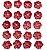 Flores artesanais Sininhos - Algodão Doce - Vermelho  - Toke e Crie - Imagem 2