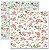 Papel scrapbook 30x30 Rose e Mint 1 - Arte Fácil - Imagem 1