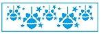 Stencil STN-001 - Natal - Bolas de pinheirinho - Litoarte - Imagem 1