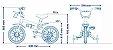 Bicicleta Infantil Nathor Aro 12 Violeta - Imagem 6