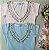 T-Shirt Decote V Pedrarias Bella P&V 17 - Imagem 1