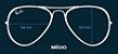 Aviador Lentes Polarizadas - Azul - Imagem 6