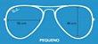 Aviador Lentes Polarizadas - Azul - Imagem 5