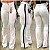 Calça Jeans Flare Branca Listras - Imagem 1