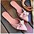 Mule Gata Preta Laço Napa Rosado - Imagem 3