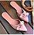 Mule Gata Preta Laço Napa Rosado - Imagem 1