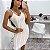 Vestido Luxo Paetê Branco  - Imagem 1