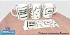 Caneca Cerâmica branca Personalizada 300ML - Imagem 1