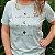 Agora Sou ECO Camiseta 100% Algodão Orgânico - Ajude As Abelhas - Azul 1un - Imagem 5