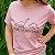Agora Sou ECO Camiseta 100% Algodão Orgânico - Herbívoros - Rosa 1un - Imagem 5