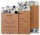 Junibee Embalagem Wrap Reutilizável Kit 3uns - Imagem 1