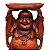 Buda Da Fortuna Em Madeira 80cm - Imagem 2