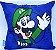 Almofada Microfibra 40cm Mario e Luigi -  Super Mario - Imagem 2