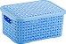 Caixa organizadora c/ tampa rattan 20cm x 15cm x 9,3cm Nitron - Imagem 2