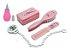 Kit Banho Luxo Pente e Escova para Bebê + Aspirador Nasal Rosa - Imagem 1